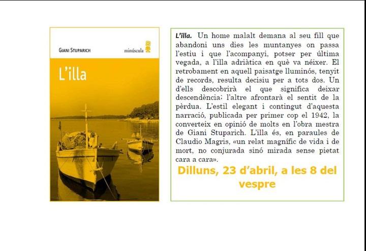 """Club de Lectura: """"L'illa"""""""