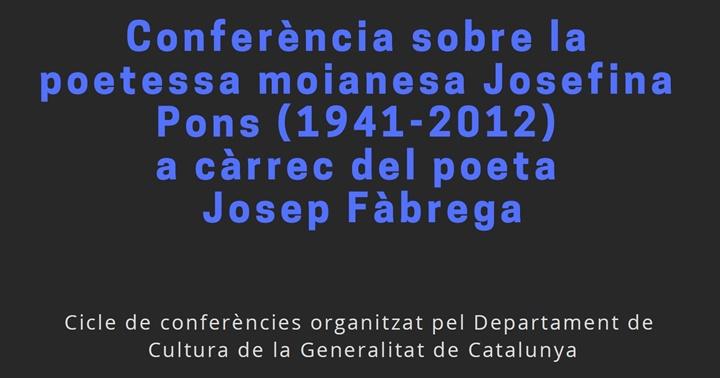 Conferència: Josefina Pons
