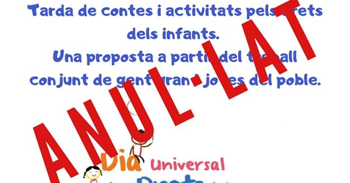 Anul·lada l'activitat sobre els drets dels infants