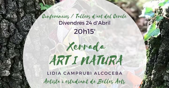 """Divendres 24: Xerrada des de casa """"Art i natura"""""""